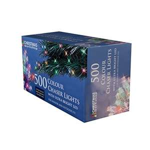 The Christmas Workshop 500 LED Chaser String Lights £10.90 prime / £15.18 non prime @ Amazon