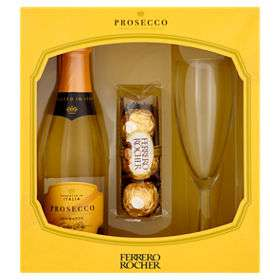 Prosecco Spumante Extra Dry and Ferrero Rocher Gift Set £6 / Prosecco Vino Spumante Extra Dry and Vanilla Scented Candle £6 + more @ Asda