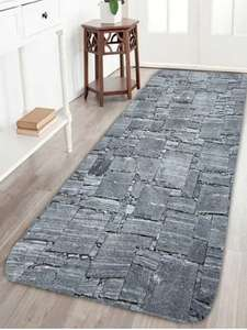 "Coral Fleece Slabstone Pattern Large Door Mat - Gray - W24"" L71""  now £7.82 delivered w/code @ Rosegal"
