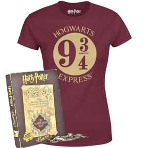 Harry Potter Tee (Assorted Styles) and Marauders Map Jigsaw £14.99 (£2.99 Delivery) with code @ IWOOT