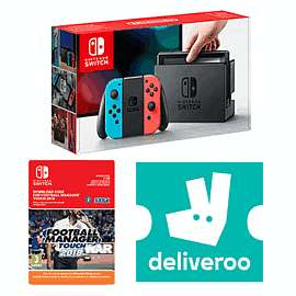 Football manager with neon switch and £5 free deliveroo credit £299.99 @ Game