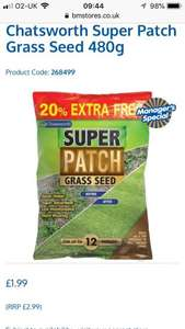 Grass seed & Patch repair - £1.99 in B&M Nottingham