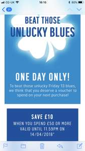 Check Argos emails for £10 off £50 spend today and tomorrow