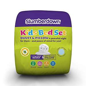Slumberdown Kids pillow and duvet (7.5 Tog) £11.99 delivered @ Slumberdown