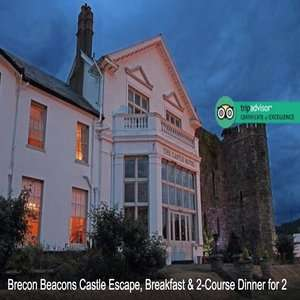 2 Nights Brecon Beacons Castle Escape w/ Breakfast & 2-Course Dinner £99 (£49.50pp) @ Wowcher