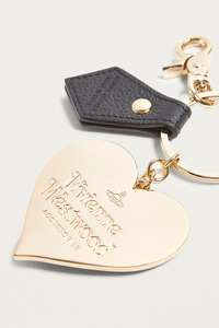 Vivienne Westwood Mirror Heart Leather Keyring RRP £50, NOW £17.50 with code @ Urban Outfitters