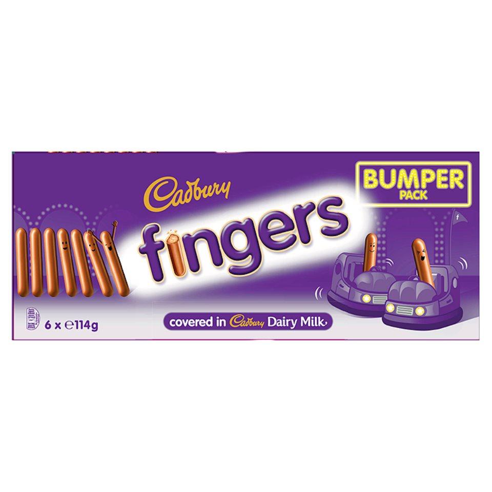 Cadbury Fingers Milk Fingers Bumper Pack 6 x 114g (684g) Iceland 10p