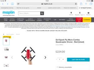 DJI SPARK FLY MORE COMBO (RED) store specific at Maplin for £224