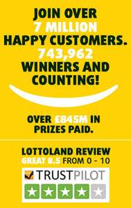 Lottoland - 3 Euromillionaire Bets for £2