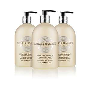 Baylis & Harding Jojoba, Silk & Almond Oil Hand Wash, 500 ml, Pack of 3 £4.28 S&S @ Amazon UK