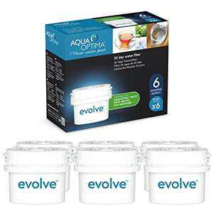 Aqua Optima Evolve 30-Day Water Filter 6x Cartridges Pack (6 months) w/CODE Free C+C @ Robert Dyas