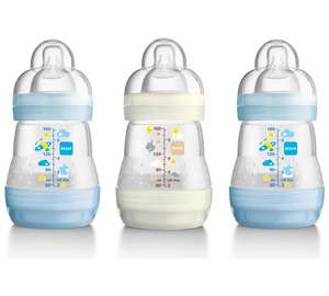 MAM Anti-Colic160ml Bottle 3 Pack - Blue And Green £9.99 @ Argos