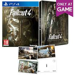 Fallout 4 Steel book edition  (PS4) 9.99 @ GAME