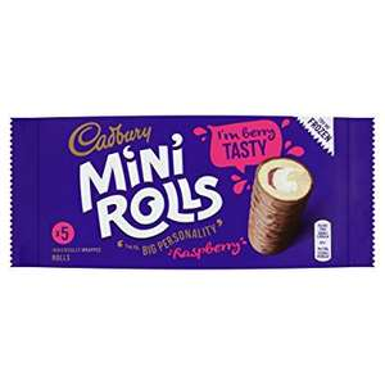 Cadbury's raspberry mini rolls 29p or 4 £1 in Fulton's foods