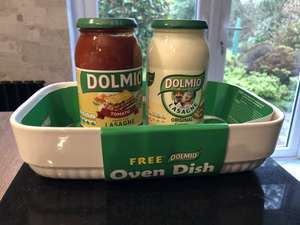 Buy 2 Dolmio sauces for £1.50 and get a FREE lasagne oven dish @ home bargains