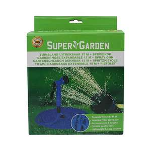15 Meter Expandable Garden Hose With Sprayer £8.81 @ Euro Car Parts Delivered or Collected