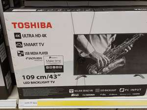 Toshiba 43 inch 4k UHD Smart TV £239 instore @ Tesco (seems to be store specific)