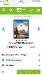Farpoint VR for PlayStation 4 £13 @ AO