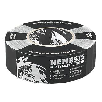 NEMESIS CLOTH TAPE 76 MESH BLACK 50MM X 50M £2.79 at Screwfix