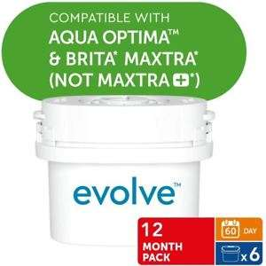 6 Aqua Optima Evolve 60Day Water Filter (1 Year supply) £13.65 at eBay - sold by ozaroo-uk free postage free Click & Collect from your local Argos