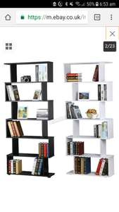 WestWood PB 6 Tier S Shape Bookshelf Bookcase Display Unit Divider Storage £30.50 Del @ eBay - sold by KMS