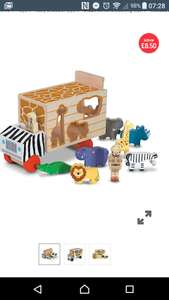 Melissa and Doug Wooden Safari Animal Shape Sorting Truck £8.50 C+C at mothercare