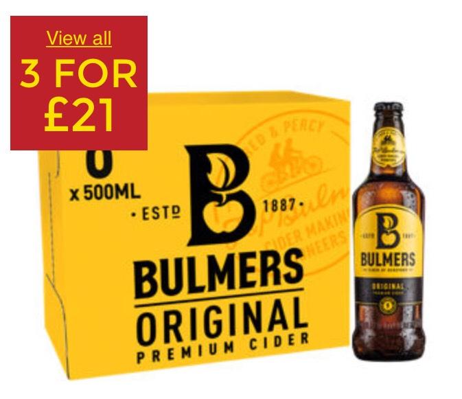 Bulmers Original (box of 8) 3 for £21 at Asda
