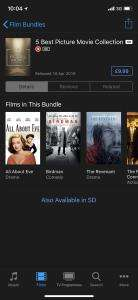 5 Best Picture Movie Collection (1 in 4K) digital format £9.99 @ iTunes store