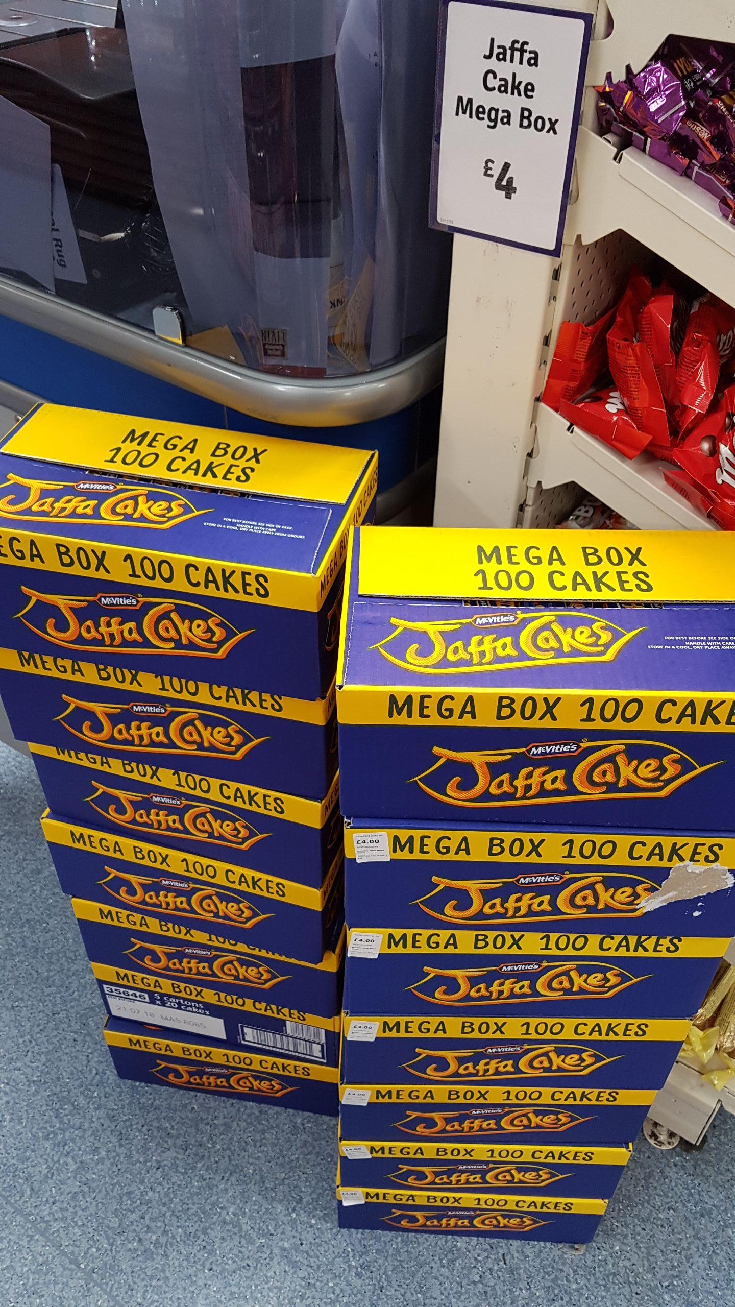 Mega box jaffa cakes 100 in a box - £4 instore @ the range