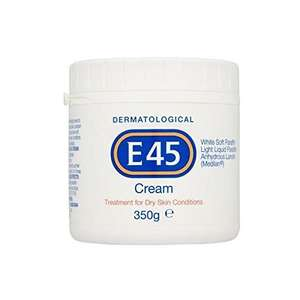 £5.29 only for E45 Dermatological Cream - 350g - Prime exclusive @ Amazon
