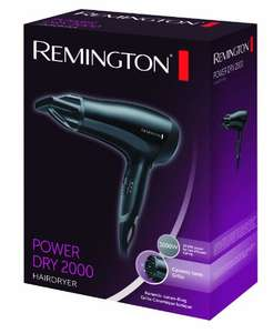 £12.99 only for Remington D3010 2000W Power Dry Hair Dryer (Prime / £17.74 non Prime) @ Amazon