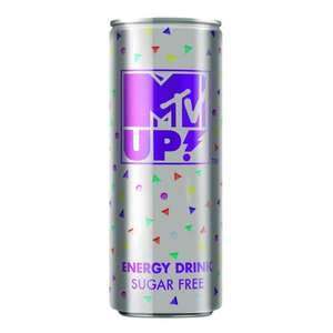 MTV sugar Free Energy drink caffeine x5 cans for £1 @fultons