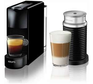Nespresso Essenza Mini Coffee Machine Bundle By KRUPS- Black With £60 Nespresso Vouchers - £89.99 @ Argos