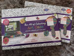 B&M - The Art of Colouring Art Case - ONLY £1.00