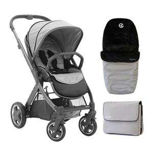 Oyster 2 Pushchair Bundle in Silver Grey - Toys R Us Oxford Botley Road £179.99
