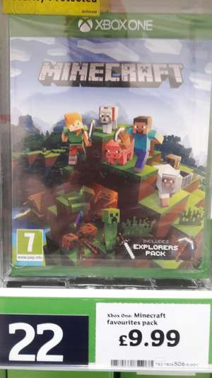Minecraft plus Explorers Pack DLC £9.99 instore at Sainsburys (Heaton Pk, MCR)