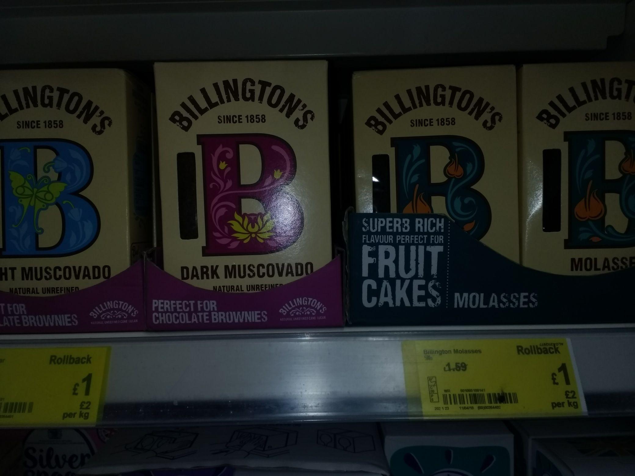 Asda (In Store) Billingtons Sugar(s) Molasses,  Dark&Light Muscovado etc - all £1 each
