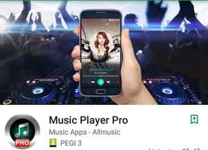 Music Player Pro. Free, was £1.49. Rated 4.7 with over 100,000 download's @ Google Play Store