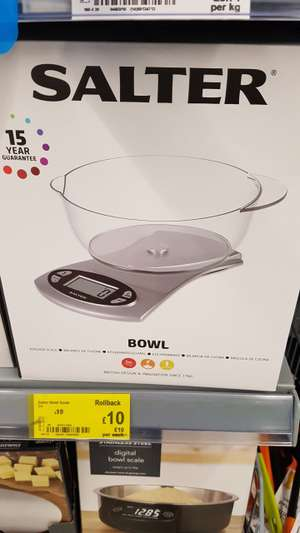 Salter bowl scale with 15 year guarantee £10 @ asda
