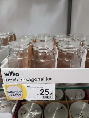 Wilko small hexagon hard jar reduced to 25p in store - Chatham