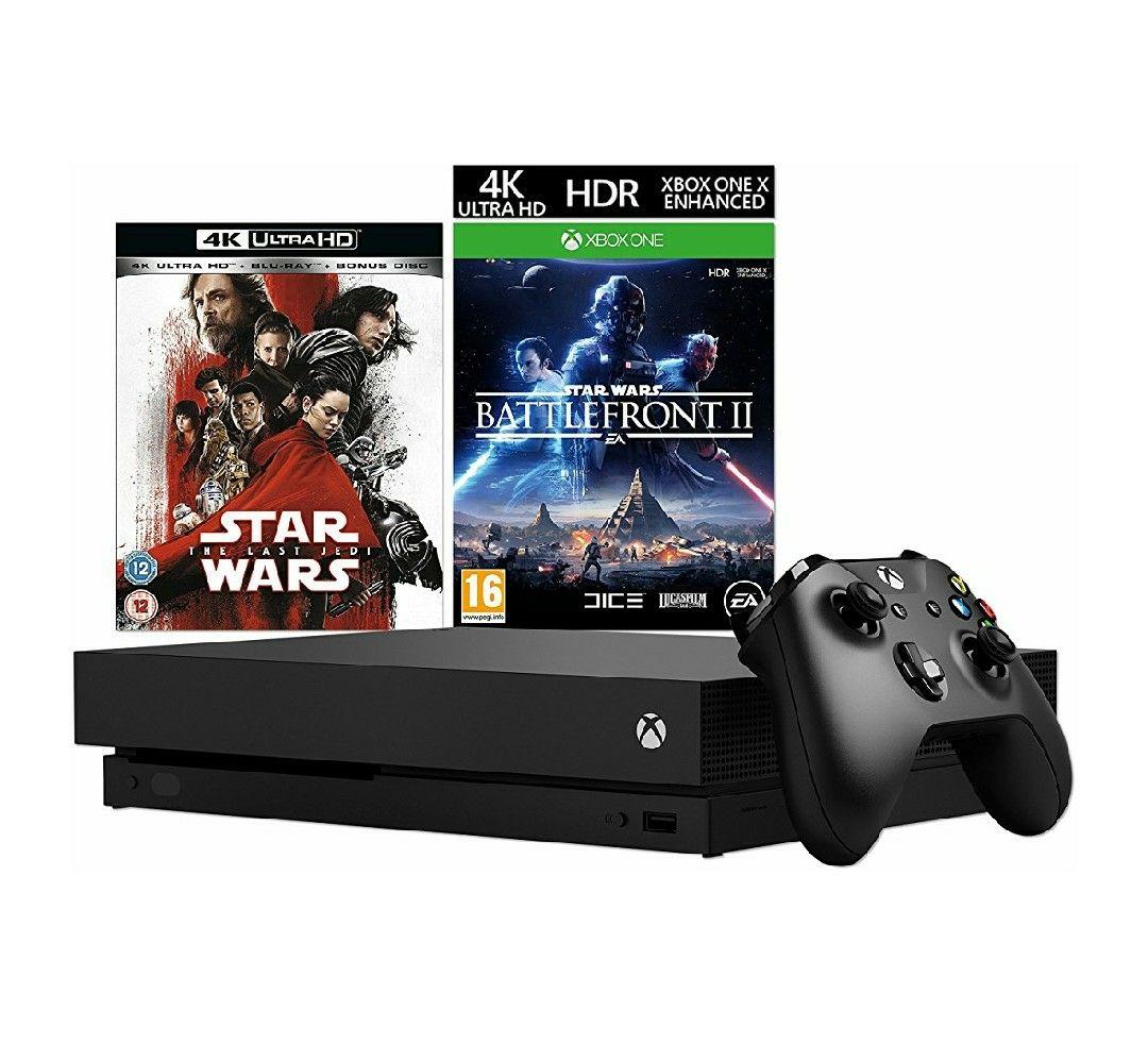 Xbox One X + Star Wars: The Last Jedi 4K UHD + Star Wars Battlefront 2 bundle £449.99 @ Amazon