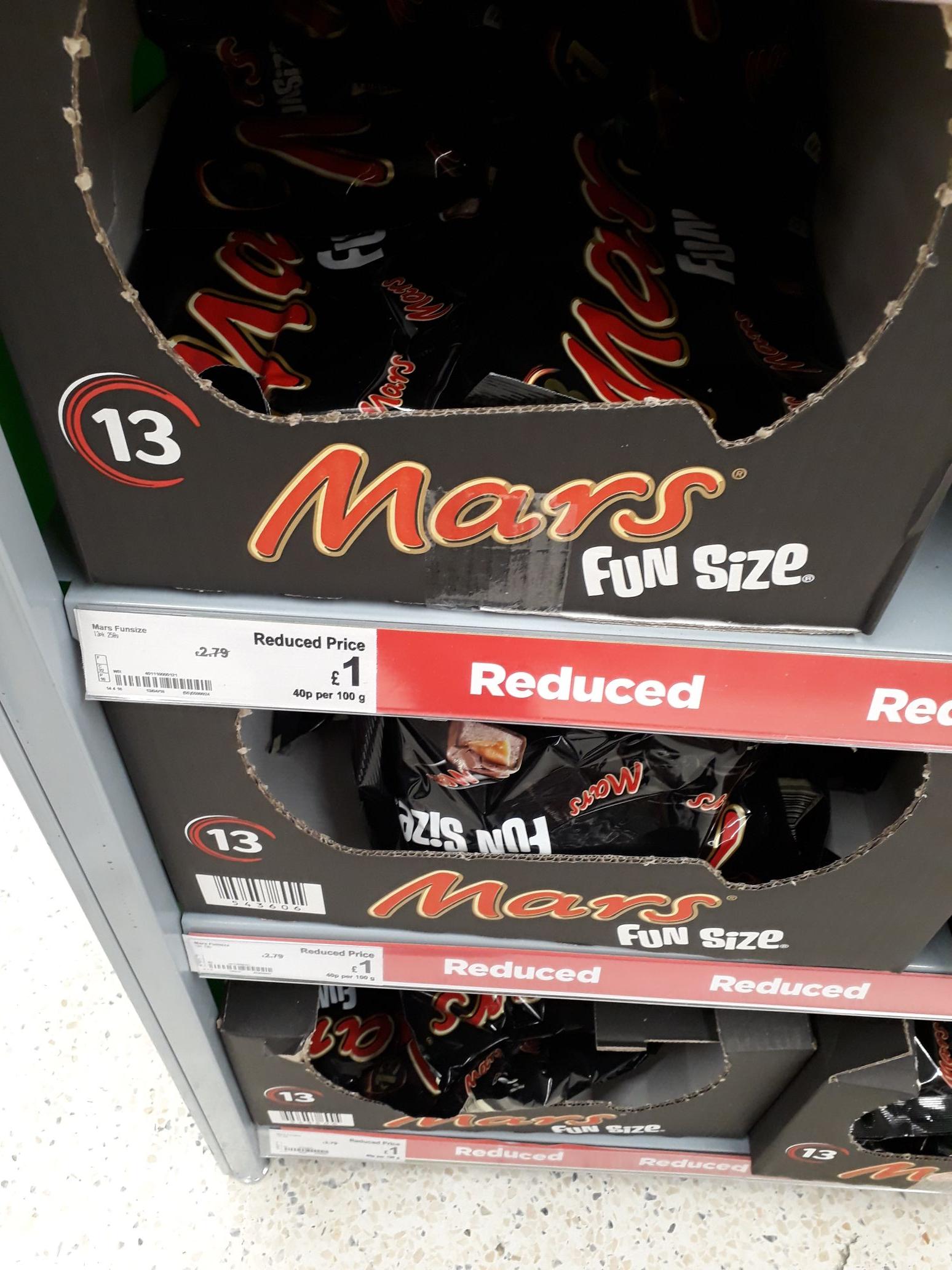 13 mini mars ...Asda £1
