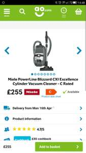 Miele Power line Blizzard CX1 Excellence £229.50 with code @ AO