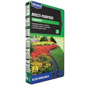 70L compost reduced to £4 each and 4 for the price of 3 @ Wickes