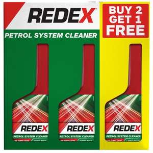Redex Petrol system cleaner 3 pack only £1 @ b&m