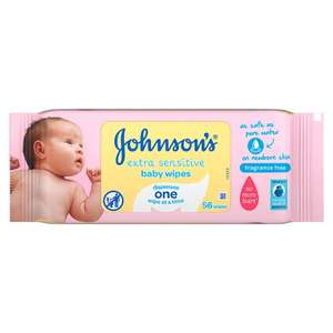 Johnsons Baby Wipes(56 wipes) was £1.30 now 50p @ Tesco