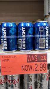 6 Bud light 330ml £2.99 B&M Reading