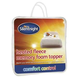 Silentnight Heated Fleece Memory Foam Double Mattress Topper was £100 now £50 C+C @ Tesco Direct