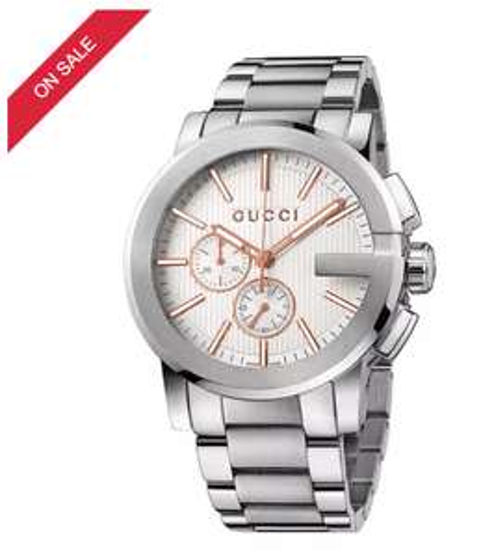 Gucci G Chrono Men's Stainless Steel Bracelet Watch £770 @ Ernest jones
