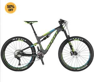 Scott 2017 Genius 710 Plus Full Suspension MTB - Grey £2249 @ Start fitness